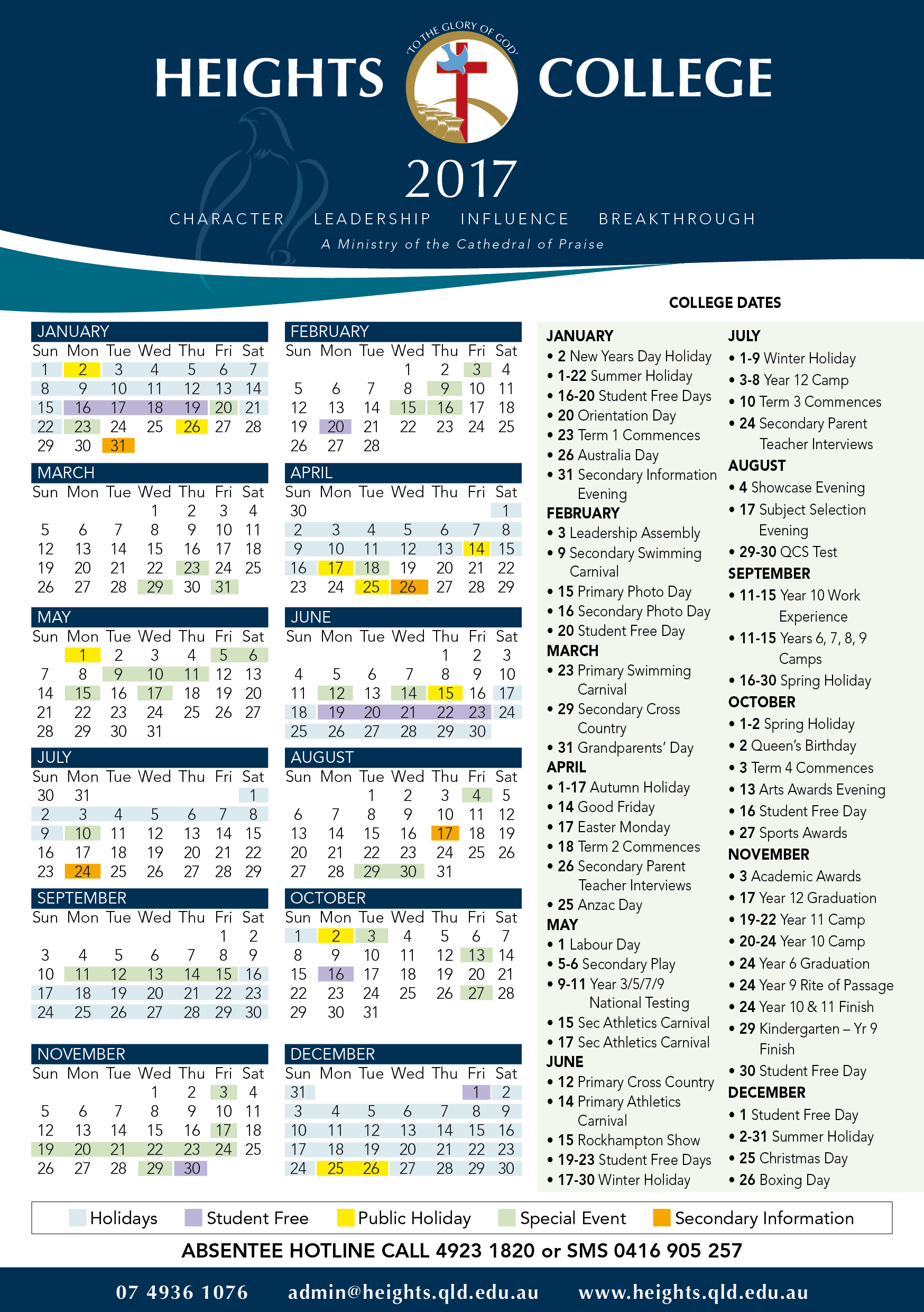 Calendar Qld : Queensland public holidays dates calendar and autos